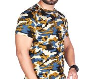 Combo - BSF Camouflage T-Shirts - Pack of 2 (Premium Coffey & Dark Blue Combination)
