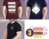 Pack Of 3 - Pray Hard, Premium STS & Official PV Combo T-Shirts OFFER