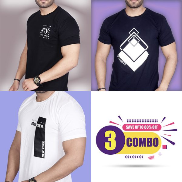 Pack Of 3 - Official PV , Premium STS & Brooklyn NY Combo T-Shirts