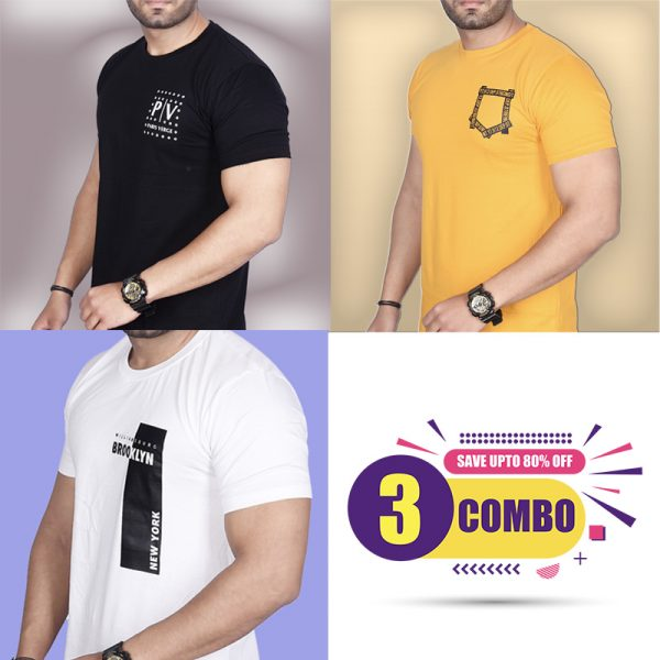 Pack Of 3 - Official PV, Mini Pocket & Brooklyn NY Combo T-Shirts