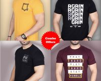 """Pack Of 4 - A""""GAIN, Official PV, Pray Hard & Mini Pocket Combo T-Shirts"""