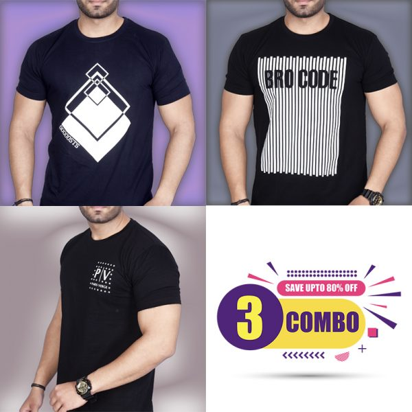 Pack Of 3 - STS, Official PV & BROCODE Combo T-Shirts