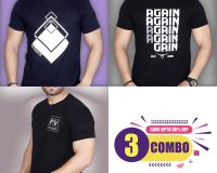 Pack Of 3 - Premium STS, AGAIN & Official PV Combo T-Shirts