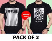 """Pack Of 2 - A""""Gain & Brocode T-Shirts (Combo Offer)"""