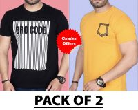 Pack Of 2 - Mini Pocket & Brocode T-Shirts (Combo Offer)