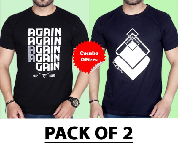 """Pack Of 2 - A""""GAIN & Premium STS Combo T-Shirts"""