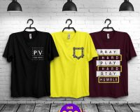 Pack Of 3 - Official PV , Mini Pocket & Pray Hard Combo T-Shirts