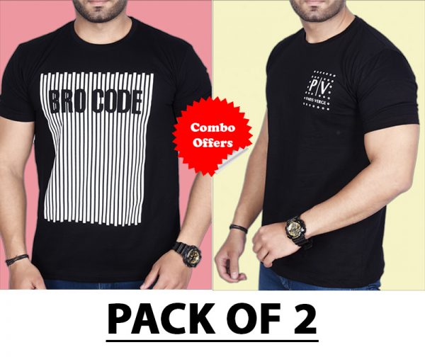 Pack Of 2 - BROCODE & Official PV  Combo T-Shirts
