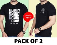 Pack Of 2 - Again & Official PV  Combo T-Shirts